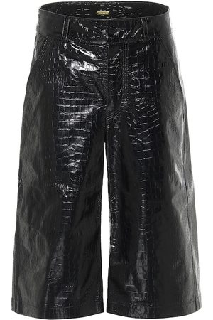 DODO BAR OR Croc-effect leather Bermuda shorts