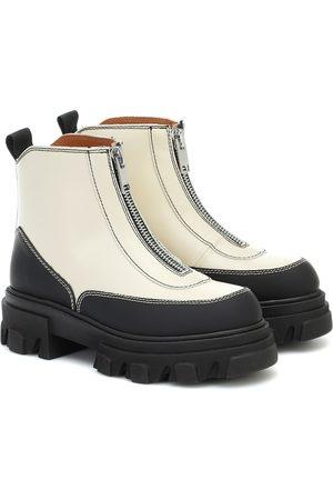 Ganni Dame Skoletter - Leather ankle boots