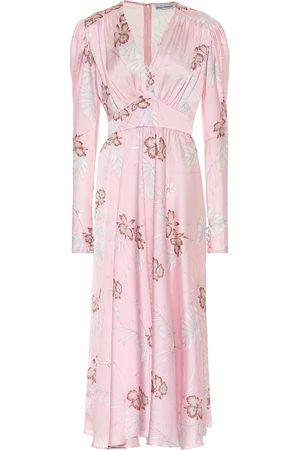 Paco rabanne Embellished floral satin dress