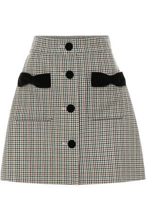 Miu Miu Houndstooth wool miniskirt