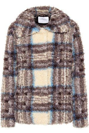 Velvet Erica plaid faux fur jacket