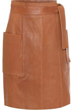 Stouls April leather wrap skirt