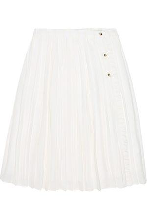 Chloé Pleated crêpe skirt