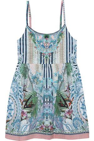 Camilla Embellished printed cotton dress