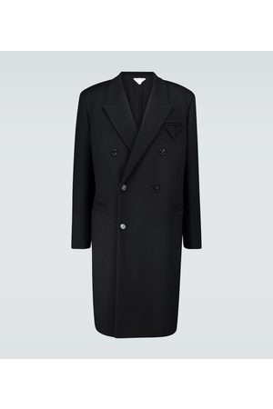 Bottega Veneta Long double-breasted wool coat