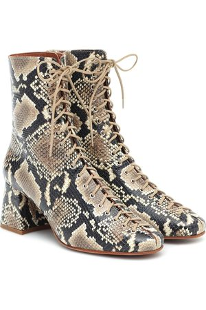 By Far Becca lace-up leather ankle boots