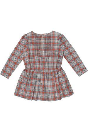 BONPOINT Phoebe checked cotton dress