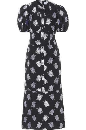 Erdem Antonetta floral fil coupé midi dress