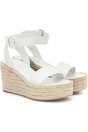 Gianvito Rossi Exclusive to Mytheresa – Billie 45 leather espadrille wedges