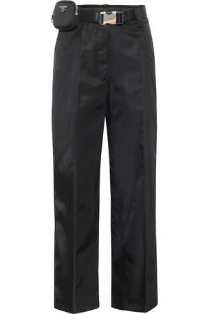 Prada Belted high-rise straight pants