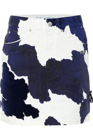 OFF-WHITE Printed denim miniskirt
