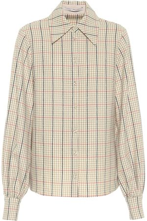 EMILIA WICKSTEAD Petula checked wool shirt