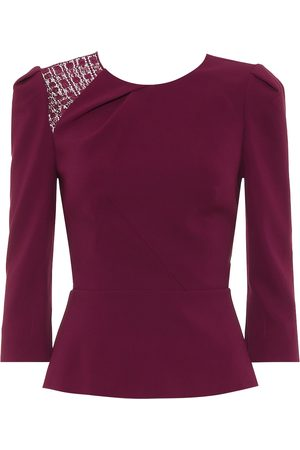 Roland Mouret Ashridge stretch-crêpe shirt