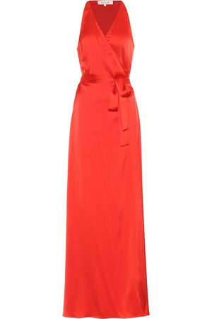 Diane von Furstenberg Paola satin maxi wrap dress