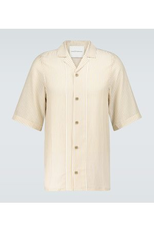 King and Tuckfield Striped bowling shirt