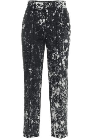 Stella McCartney Galaxy printed high-rise cropped jeans