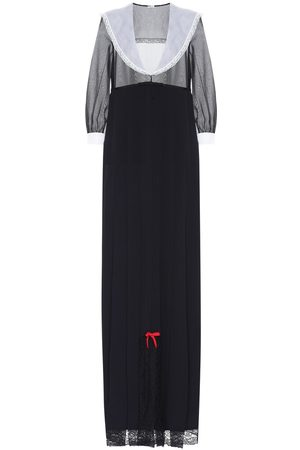 Miu Miu V-neck silk gown
