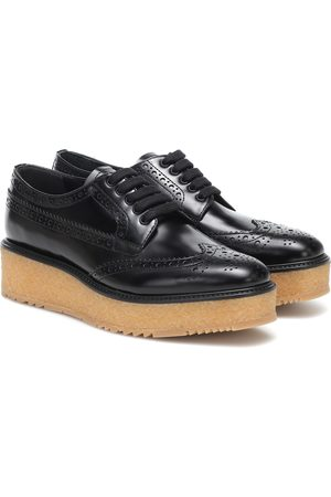 Prada Leather platform brogues