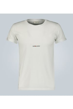 Saint Laurent Signature logo cotton T-shirt