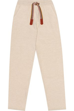 Loro Piana Suitcase Stripes cashmere trackpants