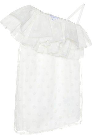 The Marc Jacobs Off-shoulder flocked organza dress