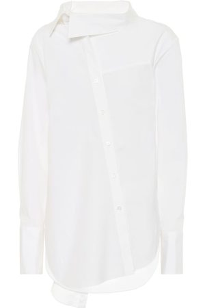 MONSE Tie-neck stretch-cotton shirt