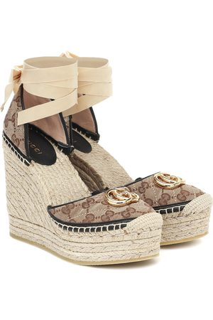 Gucci GG canvas wedge espadrilles