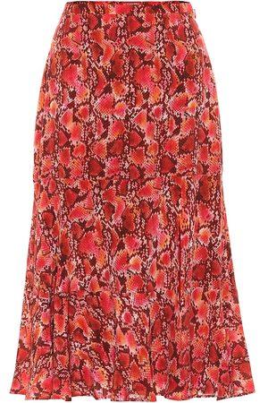 Altuzarra Clementine snake-print silk skirt