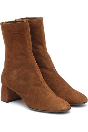 Aquazzura Saint Honoré 50 suede ankle boots