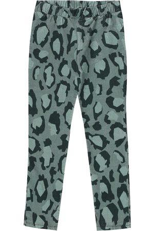 Kenzo Leopard-print velvet leggings
