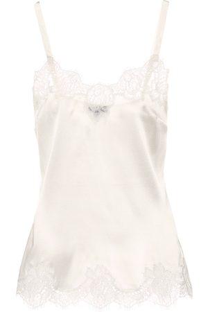 Dolce & Gabbana Lace-trimmed satin camisole