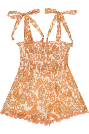 ZIMMERMANN Peggy printed cotton playsuit