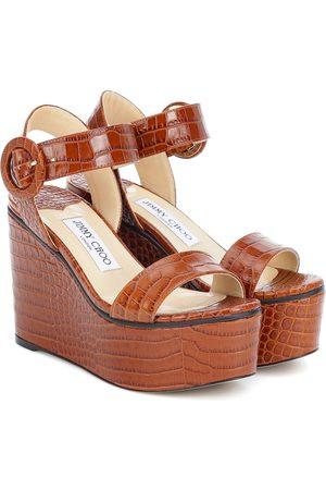 Jimmy Choo Exclusive to Mytheresa – Abigail 100 platform wedge sandals