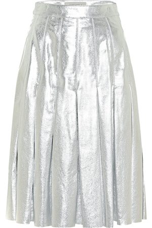 Golden Goose Anastasia metallic leather miniskirt
