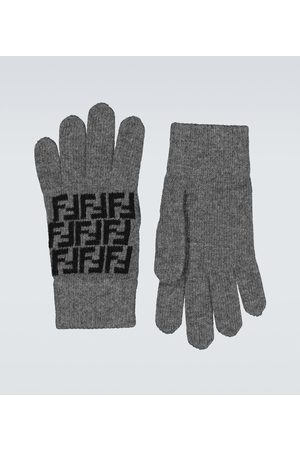 Fendi FF wool gloves