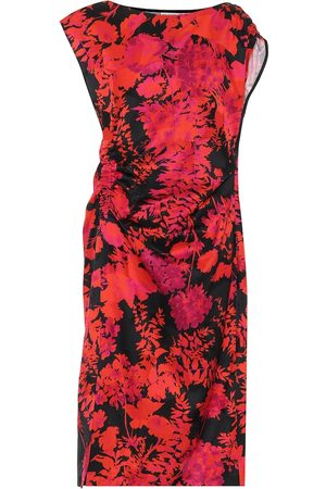 DRIES VAN NOTEN Floral cotton-blend midi dress