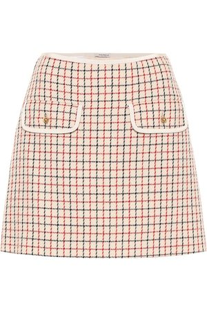 Miu Miu Checked virgin wool miniskirt