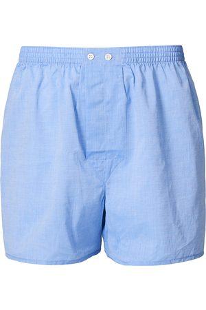 DEREK ROSE Classic Fit Cotton Boxer Shorts Blue