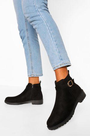 Boohoo Buckle Detail Chelsea Boots