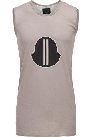 MONCLER + RICK OWENS Logo Printed Jersey Sleeveless T-shirt