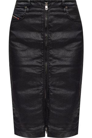 Diesel Coated denim skirt