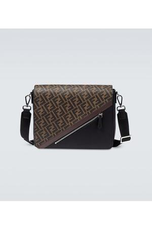 Fendi FF messenger leather bag