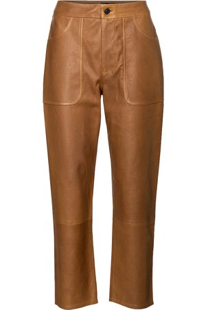 Citizens of Humanity Dame High waist - Emma high-rise leather straight jeans