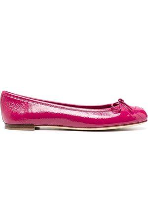 Gucci Dame Ballerinasko - High-shine bow ballerina shoes