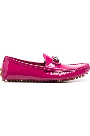 Gucci Dame Loafers - Glossy-finish horsebit loafers