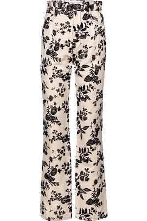 RODARTE Floral straight-fit jeans