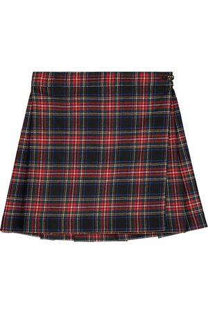 Dolce & Gabbana Checked stretch wool-blend skirt