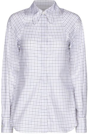 Victoria Beckham Checked cotton twill shirt