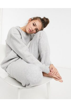Chelsea Peers Dame Joggebukser - Organic cotton heavy weight lounge jogger in grey marl
