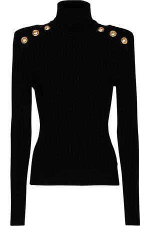 Balmain Ribbed-knit turtleneck sweater